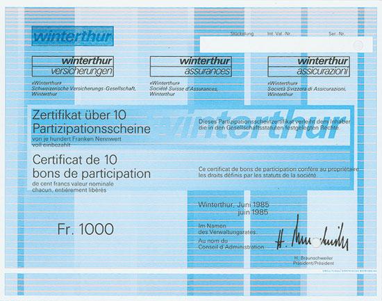 «Winterthur» Schweizerische Versicherungs-Gesellschaft