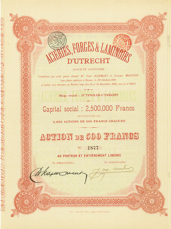Aciéries, Forges & Laminoirs d'Utrecht (Société Anonyme)