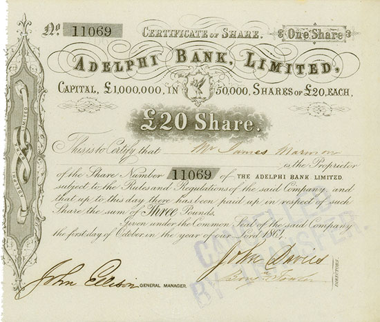 Adelphi Bank, Limited