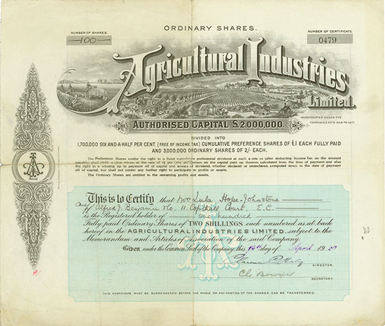 Agricultural Industries Limited