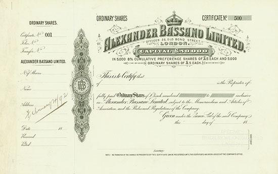Alexander Bassano Limited