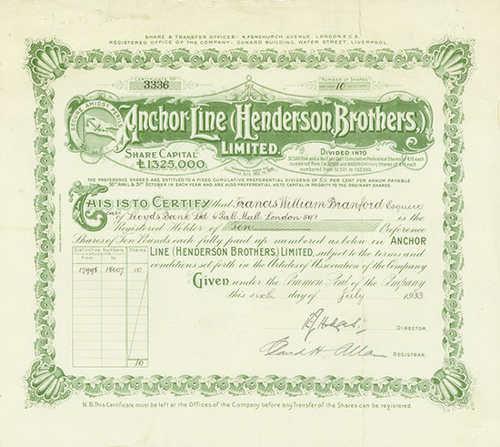 Anchor Line (Henderson Brothers) Limited
