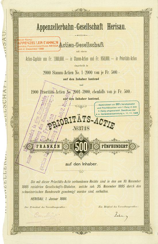 Appenzellerbahn-Gesellschaft Herisau