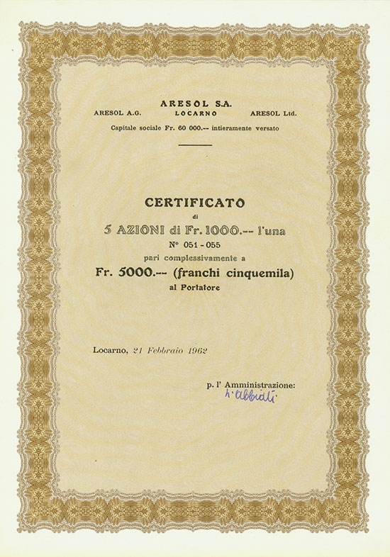 Aresol S.A.