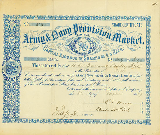 Army & Navy Provision Market, Limited