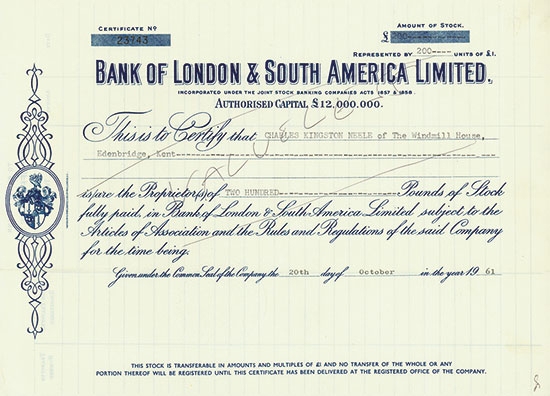 Bank of London & South America Limited