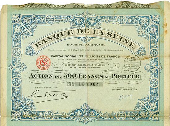 Banque de la Seine Société Anonyme