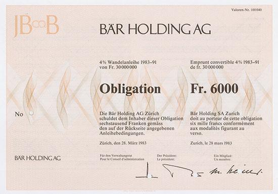 Bär Holding AG
