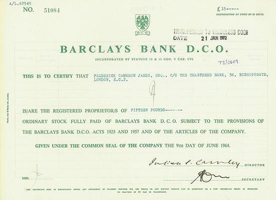 Barclays Bank D.C.O.