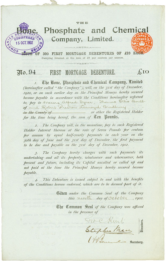 Bone, Phosphate and Chemical Company, Limited