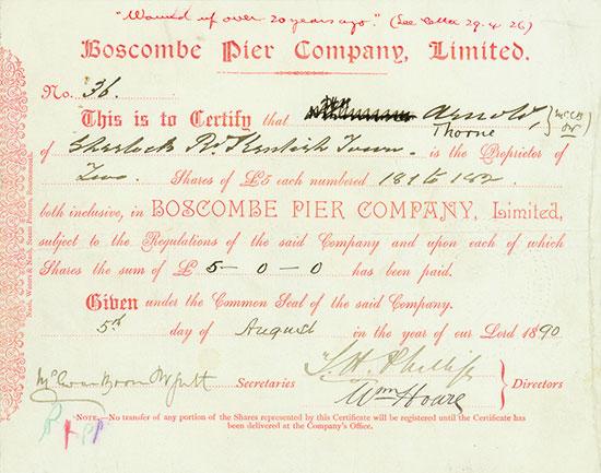 Boscombe Pier Company, Limited