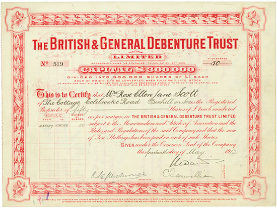 British & General Debenture Trust Limited