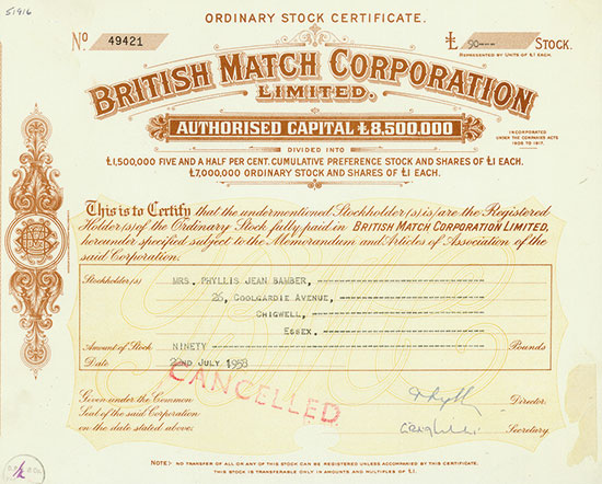 British Match Corporation, Limited