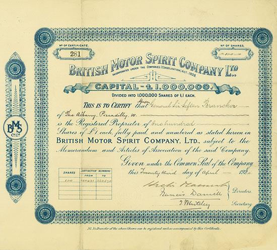British Motor Spirit Company Ltd.