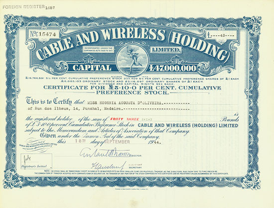 Cable and Wireless (Holding) Limited