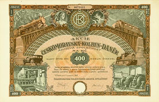 Ceskomoravska-Kolben-Danek Aksiova Spolecnost (Böhmisch-Mährische Maschinenfabrik Aktiengesellschaft)