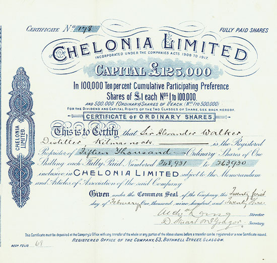 Chelonia Limited