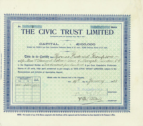 Civic Trust Limited