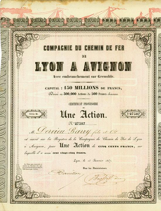Compagnie du Chemin de Fer de Lyon a Avignon