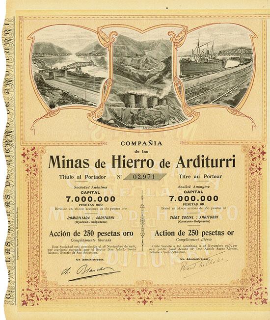 Compañia de las Minas de Hierro de Arditurri