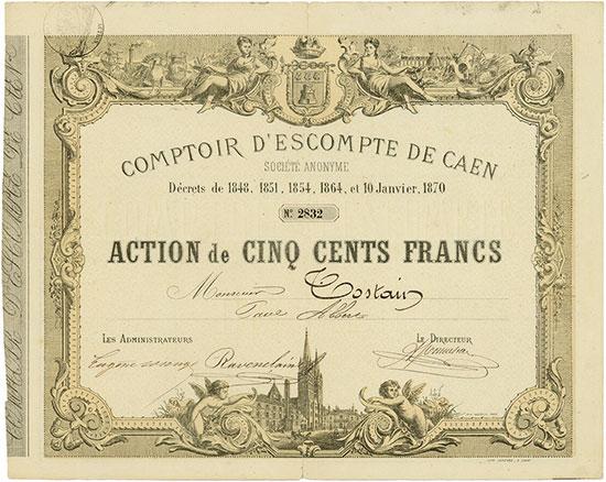 Comptoir d'Escompte de Caen Société Anonyme