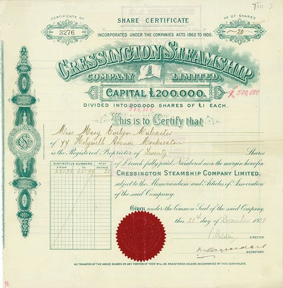 Cressington Steamship Company Limited