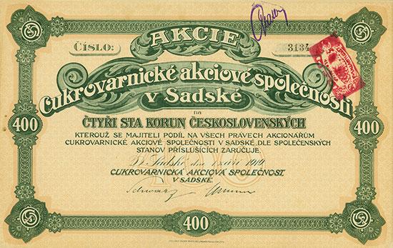 Cukrovarnická akciová spolecnost v Sadské