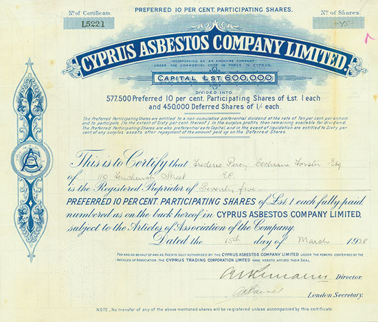 Cyprus Asbestos Company, Limited