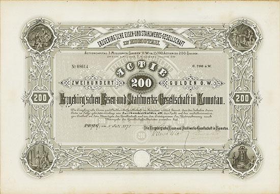 Erzgebirg'sche Eisen- und Stahlwerks-Gesellschaft in Komotau