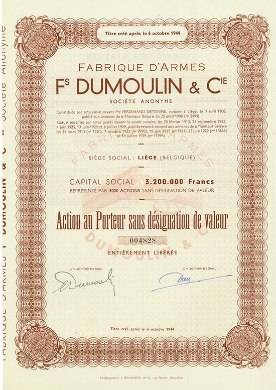 Fabrique d'Armes Fs DUMOULIN & Cie Société Anonyme