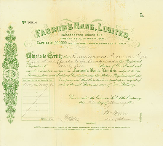 Farrow's Bank, Limited