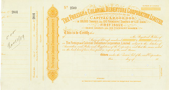Foreign & Colonial Debenture Corporation Limited