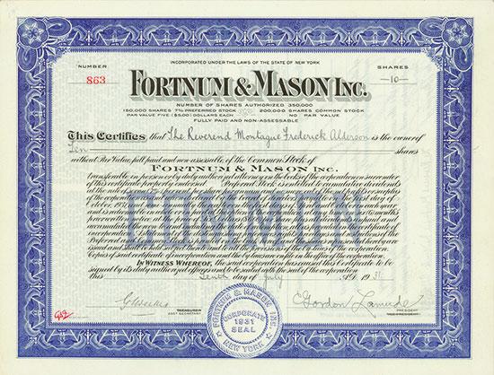 Fortnum & Mason Inc.