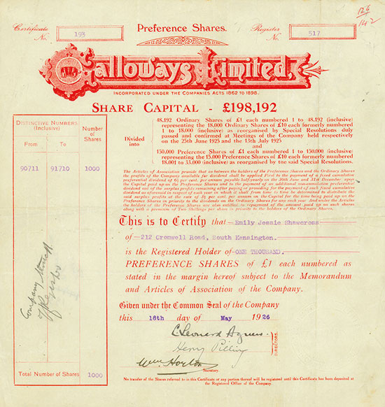 Galloways Limited