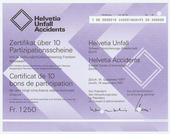 Helvetia Unfall Schweiz. Verischerungs-Gesellschaft