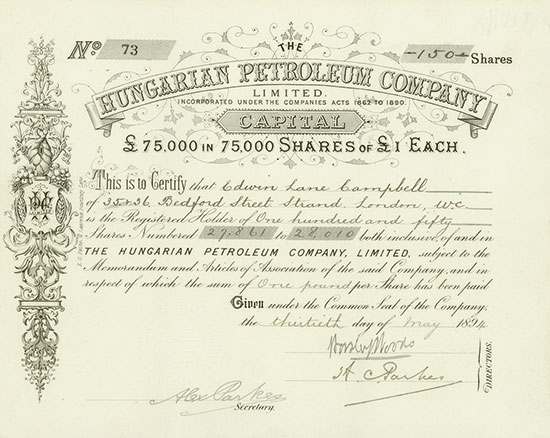 Hungarian Petroleum Company, Limited