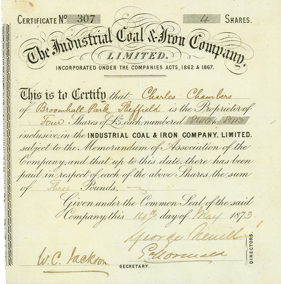 Industrial Coal & Iron Company, Limited