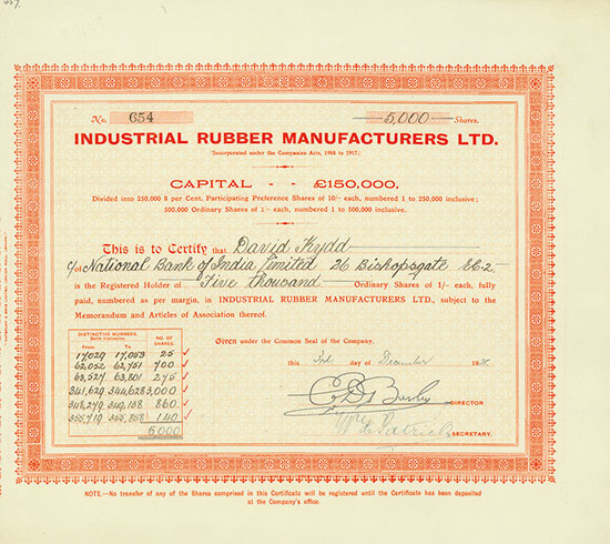 Industrial Rubber Manufacturers Ltd.