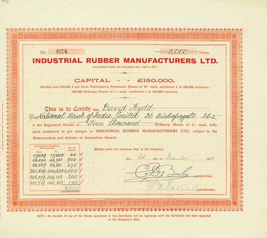 Industrial Rubber Manufacturers Ltd.