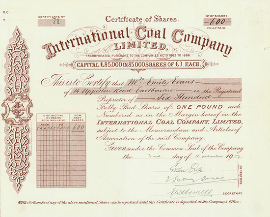 International Coal Company Limited