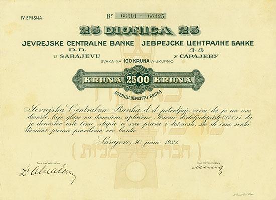 Jevrejske Centralne Banke D. D. u Sarajevu