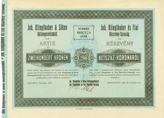 Joh. Klinglhuber & Söhne AG / Joh. Klinglhuber és Fiai R.-T.