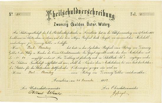 k. k. Bezirksschießstand in Dornbirn