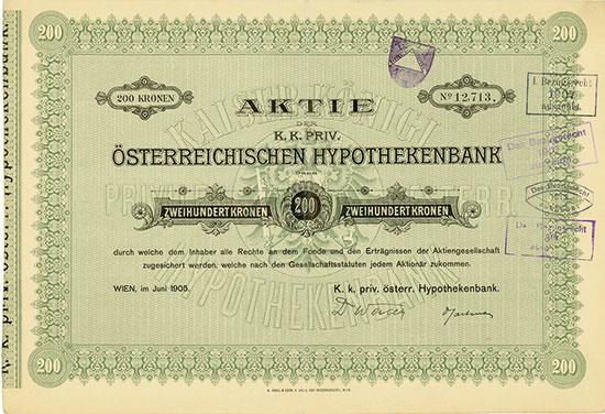 K. k. Priv. Österreichische Hypothekenbank
