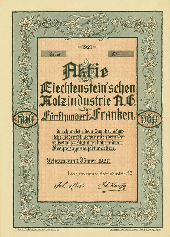 Liechtenstein'sche Holzindustrie A.G.