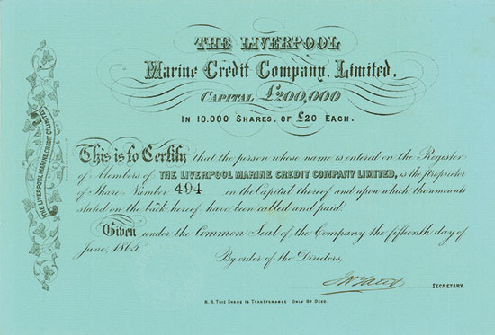 Liverpool Marine Credit Company, Limited