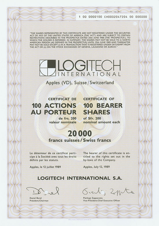 Logitech International S. A.