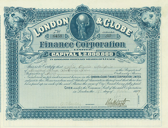London & Globe Finance Corporation Limited