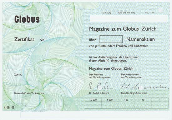 Magazine zum Globus