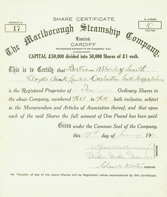 Marlborough Steamship Company, Limited